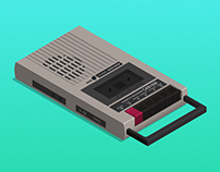 Califone cassette recorder