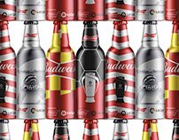Budweiser/LaLiga Metalic Bottle Designs