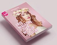 Free Magazine Cover Mockup +Design