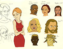 Cupid and Psyche Character Designs