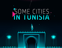 Some Cities In Tunisia | vector illustration
