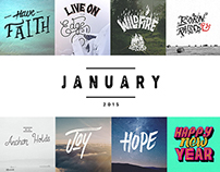 Daily Lettering | JANUARY