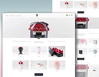 flower shop website in shopify