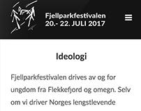 Fjellparkfestivalen - Webdesign