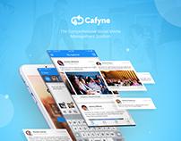 Cafyne Mobile App Design (Social Media Management)