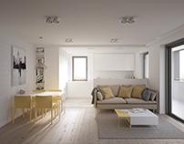 Projekt wnętrz mieszkania w Jaworznie