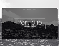 UI UX Design - Portfolio Black & White