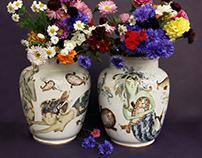 "Porcelain vases ""Mermaids"""