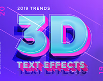 30 Text Effects 2019 Trends