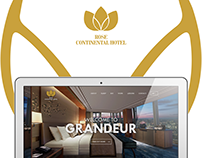 Rose Continental Hotel- Responsive Website Concept