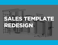 Queenax sales template redesign