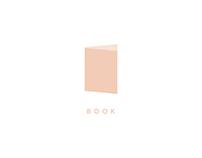Minimalist Book Logo Design