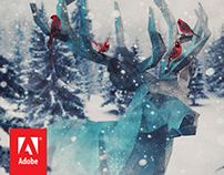 The Reindeer: Adobe Holiday Card / Wallpaper
