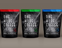 'One More Coffee' packaging