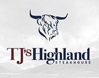TJ's Highland Steakhouse Brand Identity