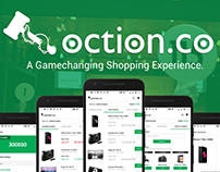 "Redesign of Android app ""Oction"""