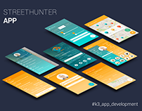 StreetHunter App screens