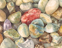 Rocks in watercolour