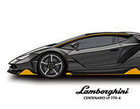 Lamborghini Centenario Illustration