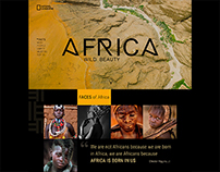 Landing page concept. Africa. Wild beauty