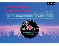 Website Demo for Sunset Beach Music Festival