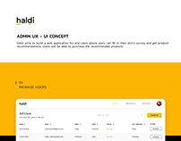 Admin Website UI UX