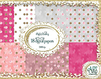 FREE PAPER PACK Pink and Gold Textures
