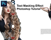 Text Masking Effect | Photoshop Tutorial | Typography