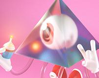 Pink Floyd Bday - 3D