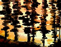 bosque monocromático