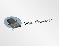 """Mr Binary"" game app logo and graphic design"