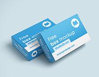 Free box mockup / 95x60x25