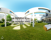 VR 360° Panoramic Render - External Court