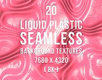 20 Liquid Plastic Seamless Background Textures