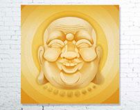 Laughing Buddha Digital Fine Art Prints