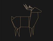 Deer origami
