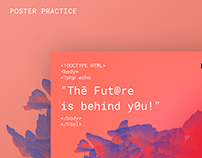 The Future is behind you: Poster