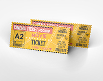 Cinema Ticket Mockup