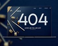 Error 404 UI Design