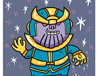Thanos from Avengers comic