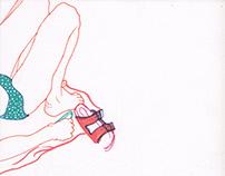 Som sketchbook drawings from Martha's Vineyard.