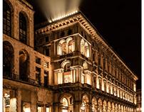 Milan Lights.  Night City Photography