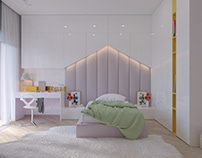 Sweet girl`s bedroom