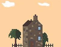 Pixels landscapes