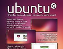 Flyer/poster promotional for migration to Ubuntu