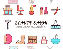Beauty Salon Vector Free Icon Set