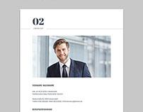 Clean Resume Template | Bewerbung Vorlage