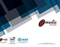 Diseño de papelería básica para Bmedia Studio