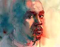 Kanye West watercolor