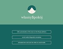 Własny$pokój / website, infographics, animation